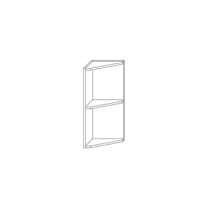 Шкаф настенный угловой белый 30