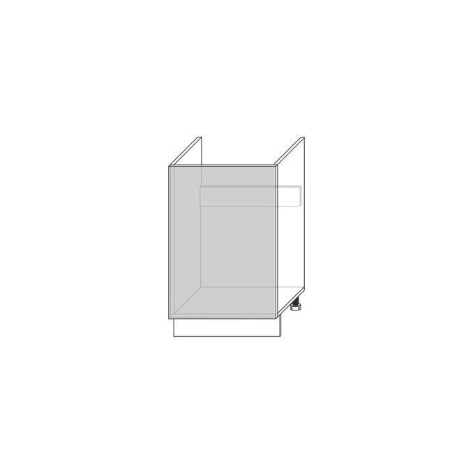Шкаф под мойку «Мэдисон» 1D/60 белый/камень