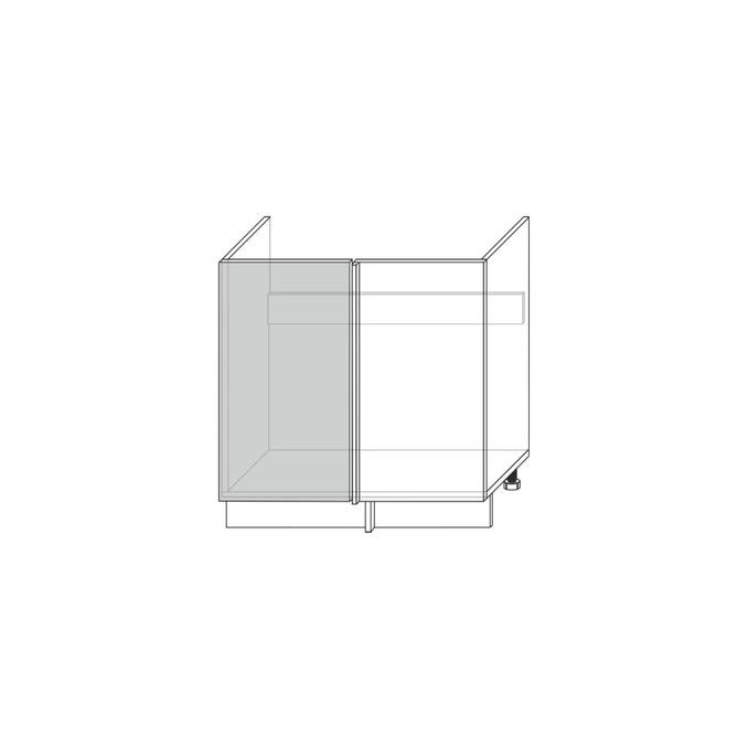 Шкаф под мойку «Авеню» угловой 1D/80-46 белый/светло-серый сатин
