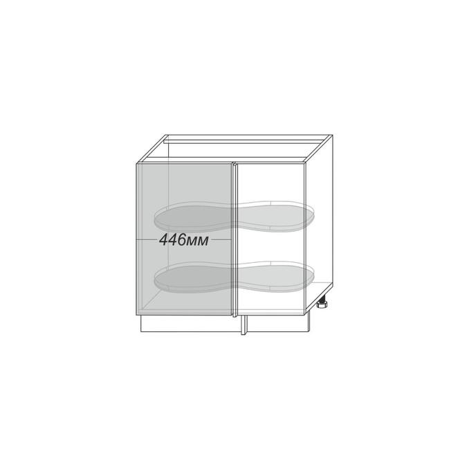 Шкаф «Тапио» угловой 1D/80-1 белый/дуб полярный