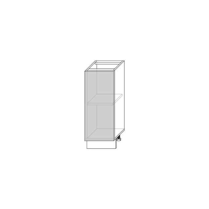 Шкаф-стол «Авеню» 1D/30-46 серый/светло-серый сатин