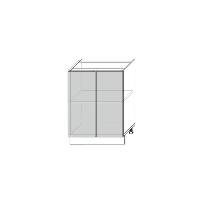 Шкаф кухонный «Мэдисон» 2D/60-46 серый/камень