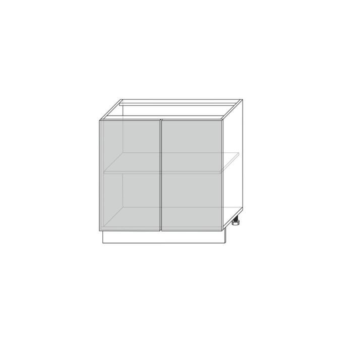 Шкаф под мойку «Авеню» 2D/80-51 белый/светло-серый сатин