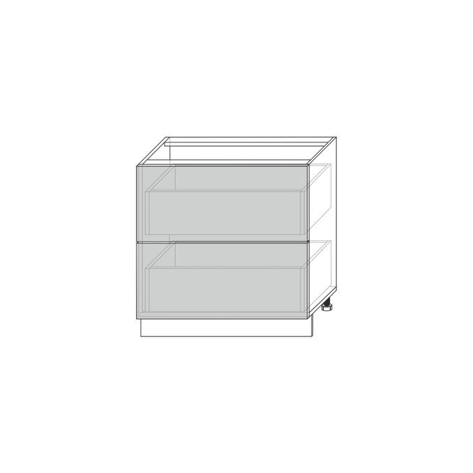 Шкаф «Тапио» 2S/80-51 белый/дуб полярный