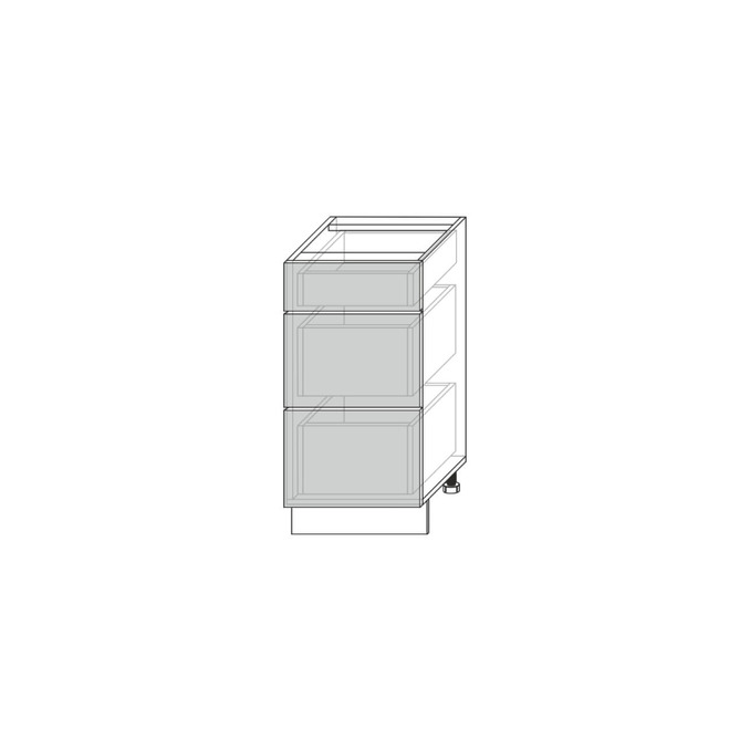 Шкаф кухонный «Мэдисон» 3S/40-51 белый/камень