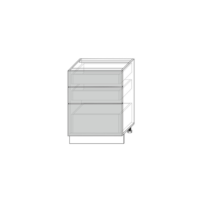 Шкаф «Гранд» 3S/60-51 белый/дуб английский