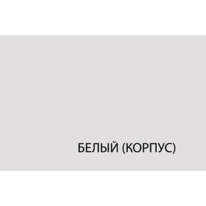 Шкаф-стол «Авеню» 1D/30-40 белый/светло-серый сатин