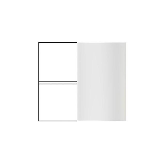 Шкаф «Бостон» настенный угловой 1D/80-29-2 белый глянец