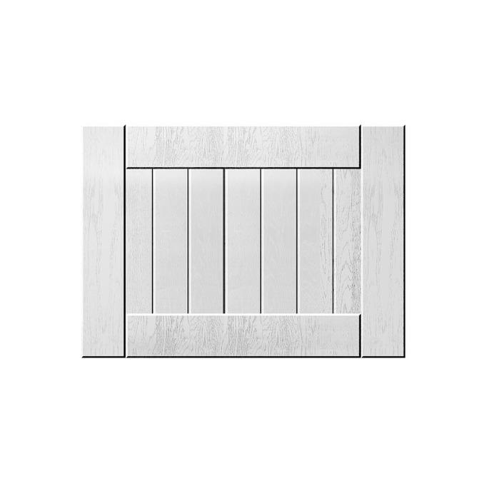 Шкаф «Тапио» настенный 1DG/50-29 серый/дуб полярный