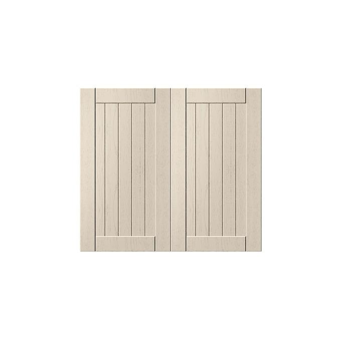 Шкаф «Тапио» под мойку 2D/80 серый/дуб снежный
