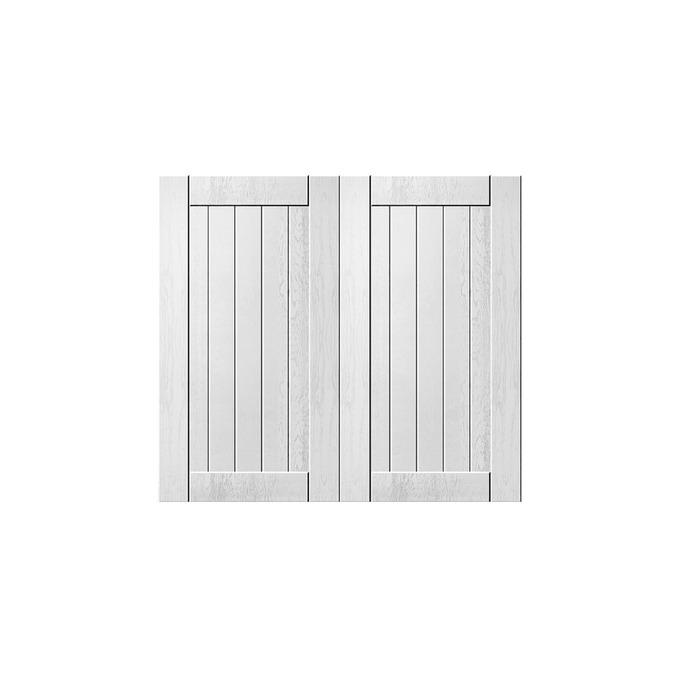 Шкаф «Тапио» настенный 2D/80-29 серый/дуб полярный