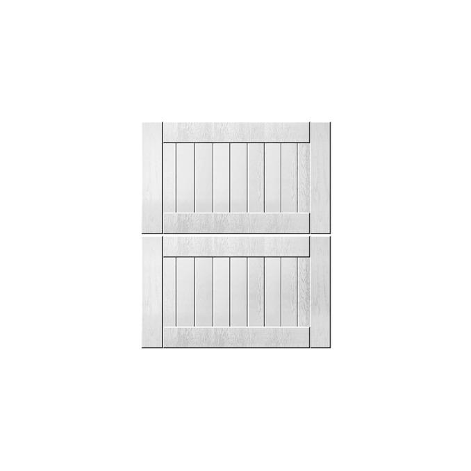 Шкаф «Тапио» настенный 2DG/50-29-2 белый/дуб полярный