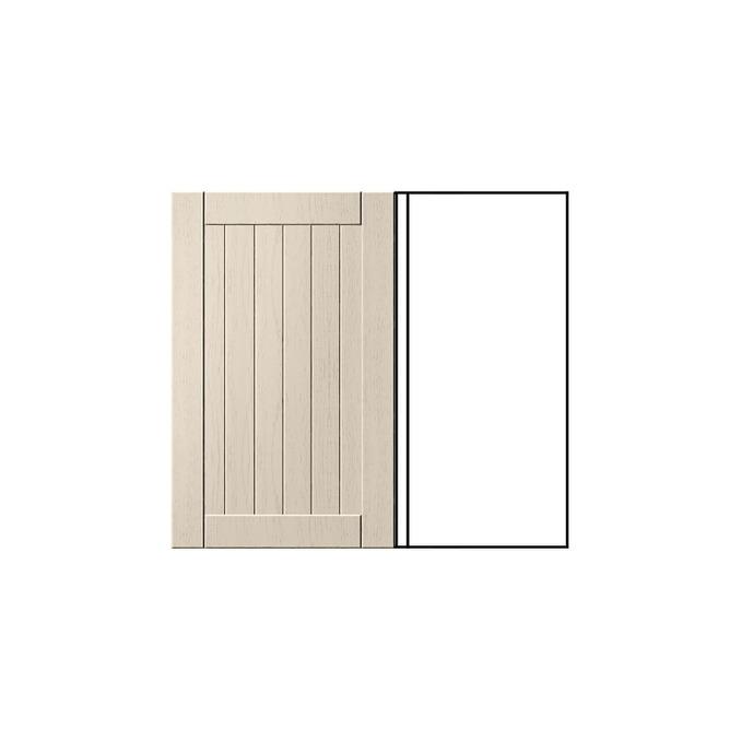 Шкаф «Тапио» угловой 1D/80-1 белый/дуб снежный