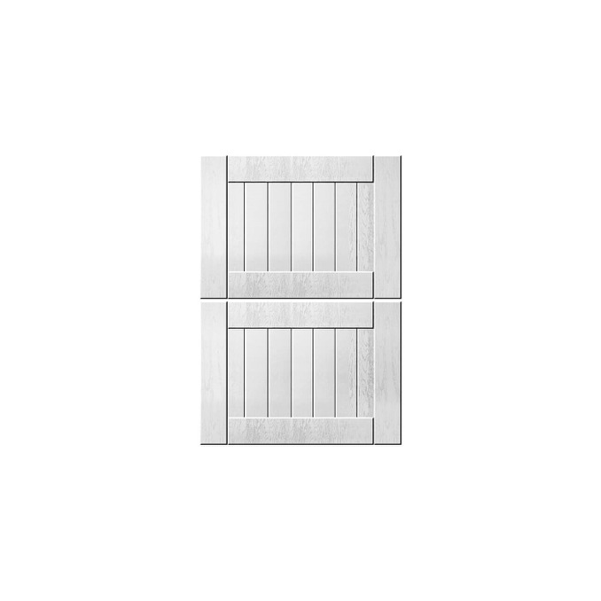 Шкаф «Тапио» 2S/50-51 белый/дуб полярный