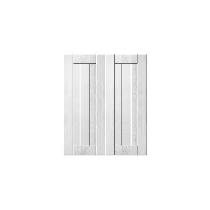 Шкаф «Тапио» под мойку 2D/60 белый/дуб полярный