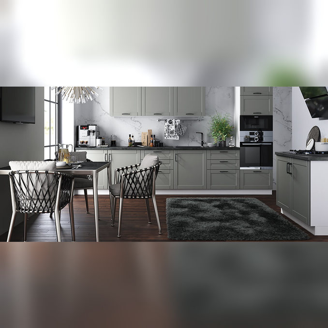 Шкаф витрина настенный «Авеню» 1V/40-29 серый/светло-серый сатин