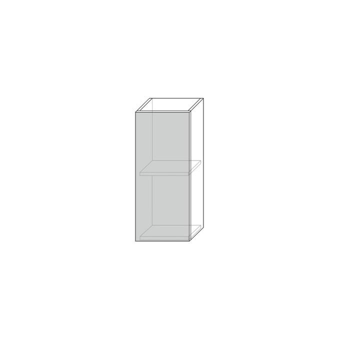 Шкаф настенный «Авеню» 1D/30-29 серый/светло-серый сатин