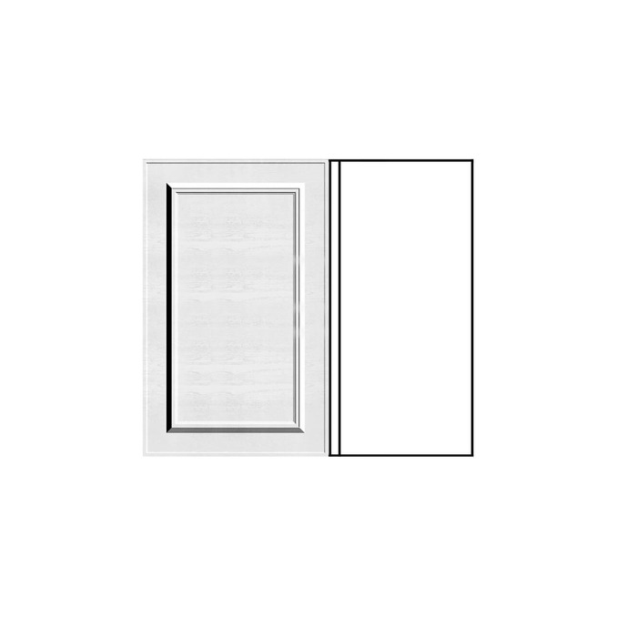 Шкаф под мойку угловой «Гранд» 1D/80-51 белый/дуб полярный