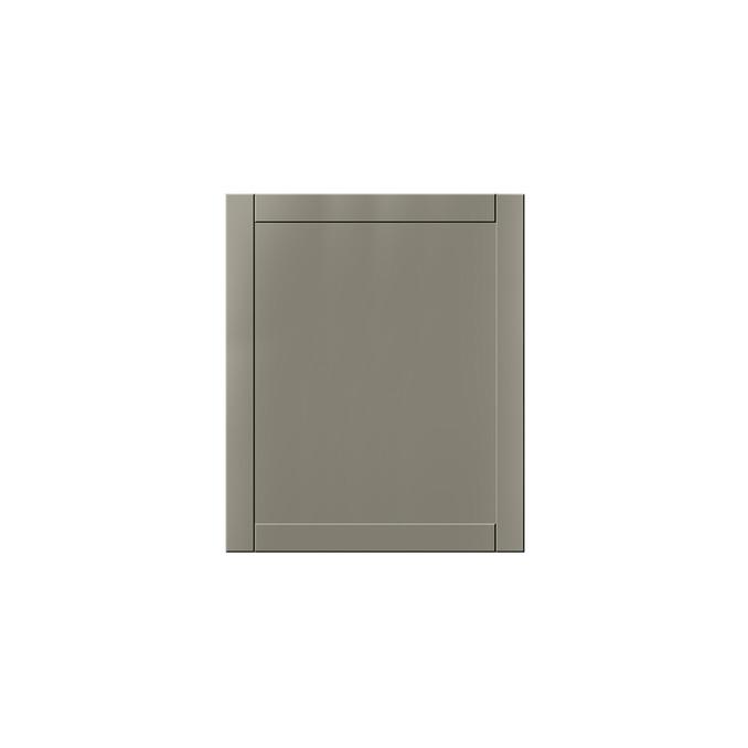 Шкаф настенный «Авеню» 1D/60-29-2 белый/светло-серый сатин