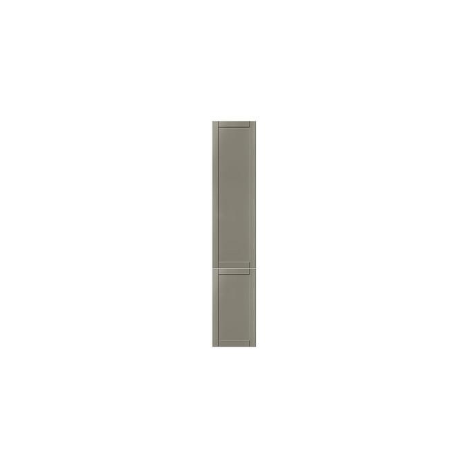 Шкаф пенал «Авеню» 2D/40 серый/светло-серый сатин