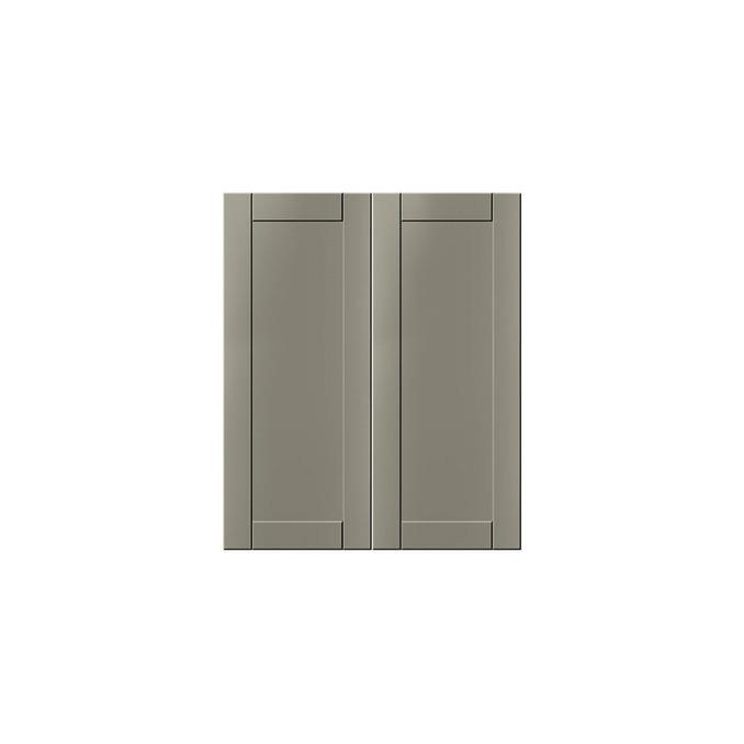 Шкаф-стол «Авеню» 2D/60-51 белый/светло-серый сатин