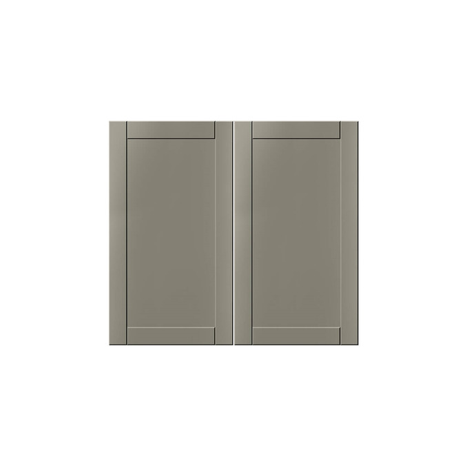 Шкаф настенный «Авеню» 2D/80-29-2 белый/светло-серый сатин