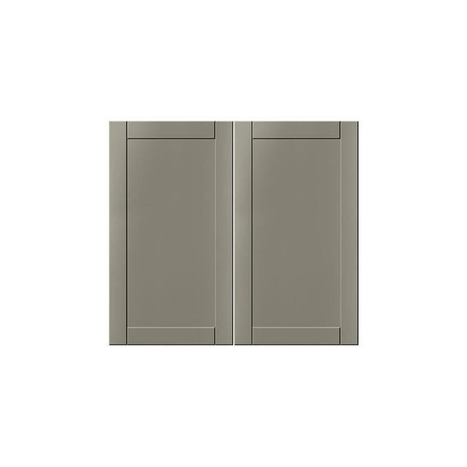 Шкаф-стол «Авеню» 2D/80-46 серый/светло-серый сатин