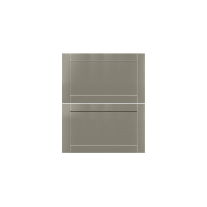Шкаф для сушки посуды «Авеню» 2DG/60 белый/светло-серый сатин