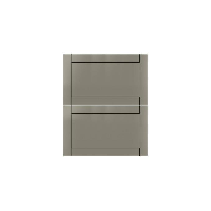 Шкаф с ящиками «Авеню» 2S/50-51 белый/светло-серый сатин