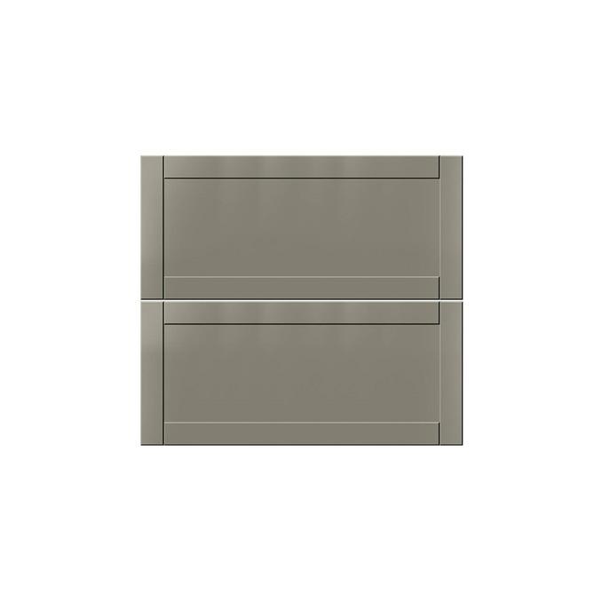Шкаф для сушки посуды «Авеню» 2DG/80 белый/светло-серый сатин