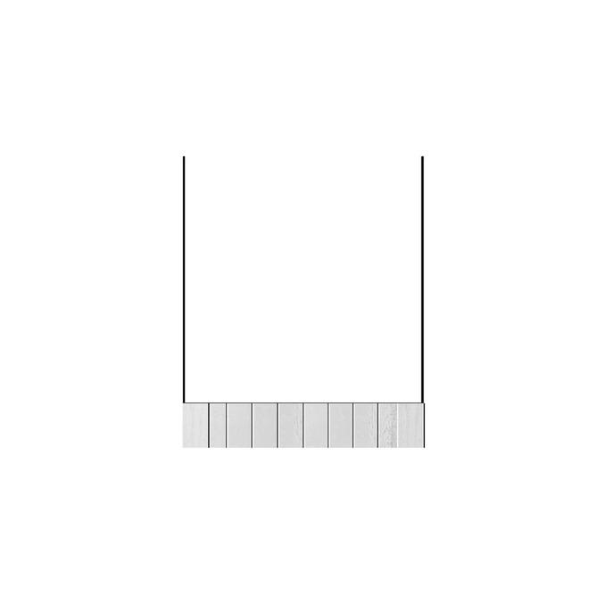 Шкаф «Тапио» под духовку 1S/60 белый/дуб полярный