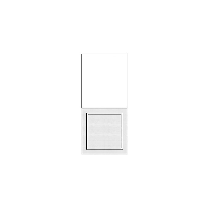 Шкаф пенал «Гранд» 1DN белый/дуб полярный