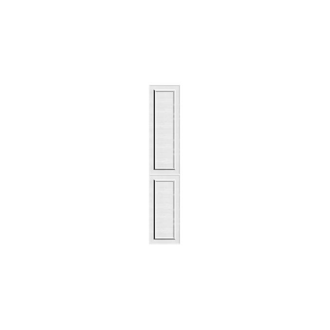 Шкаф пенал «Гранд» 2D белый/дуб полярный