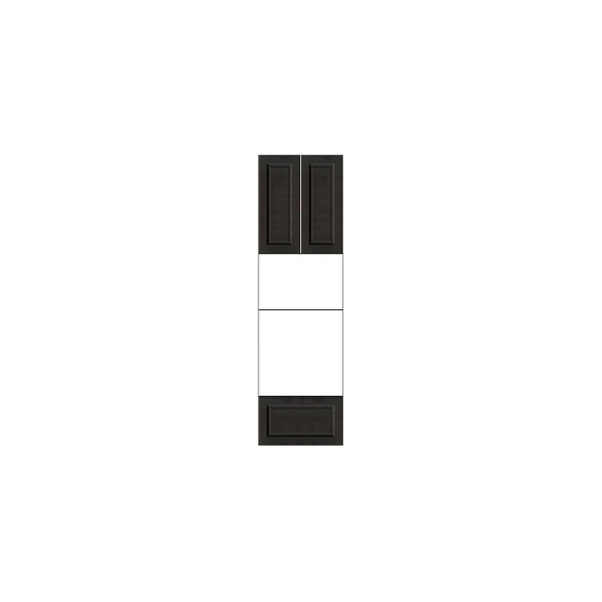 Шкаф «Гранд» пенал 2D1S белый/дуб английский