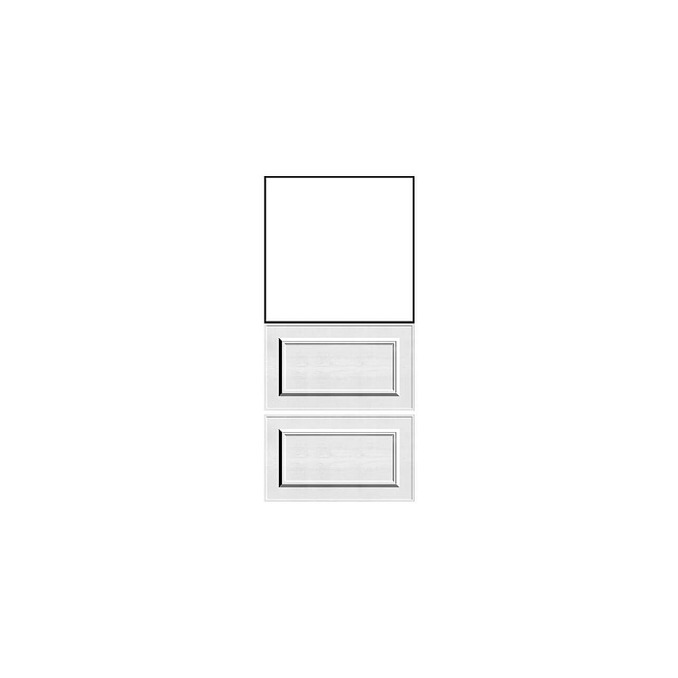 Шкаф кухонный «Гранд» 2SN белый/дуб полярный