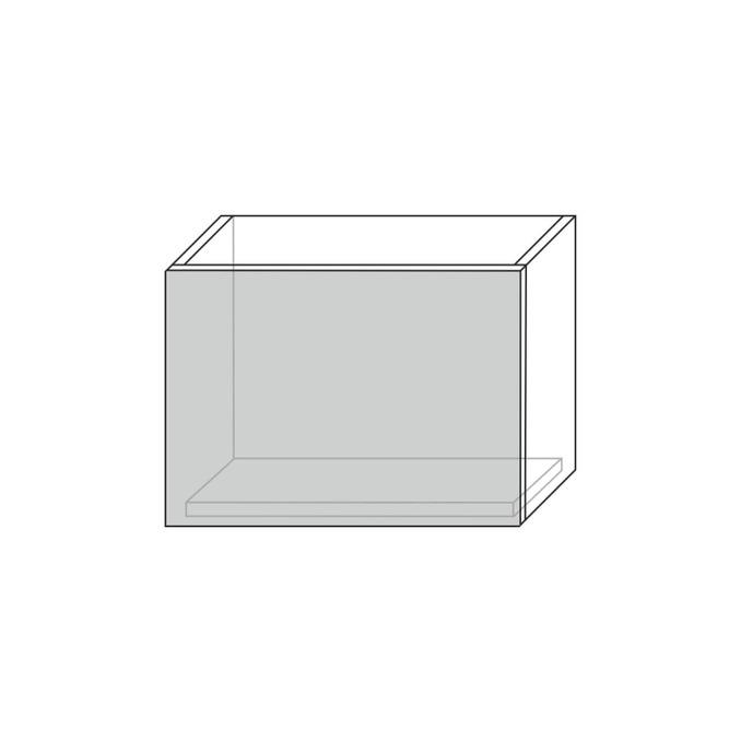 Шкаф «Бостон» настенный 1DG/60-29 серый/белый