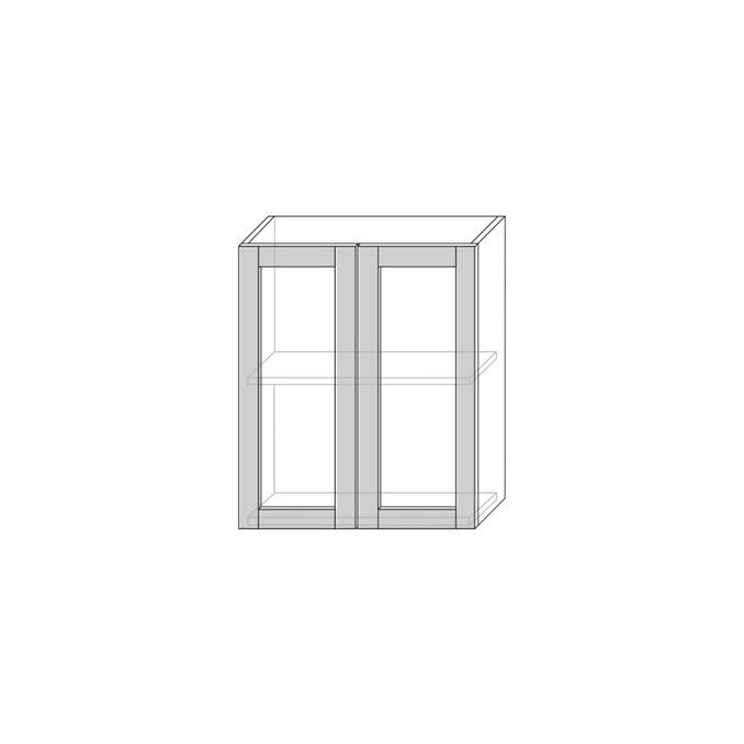 Шкаф настенный «Авеню» 2V/60-29 серый/светло-серый сатин
