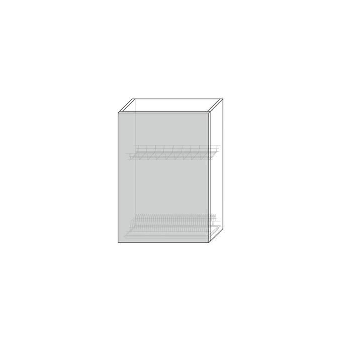 Шкаф для сушки посуды «Авеню» 1D/50-2 серый/светло-серый сатин