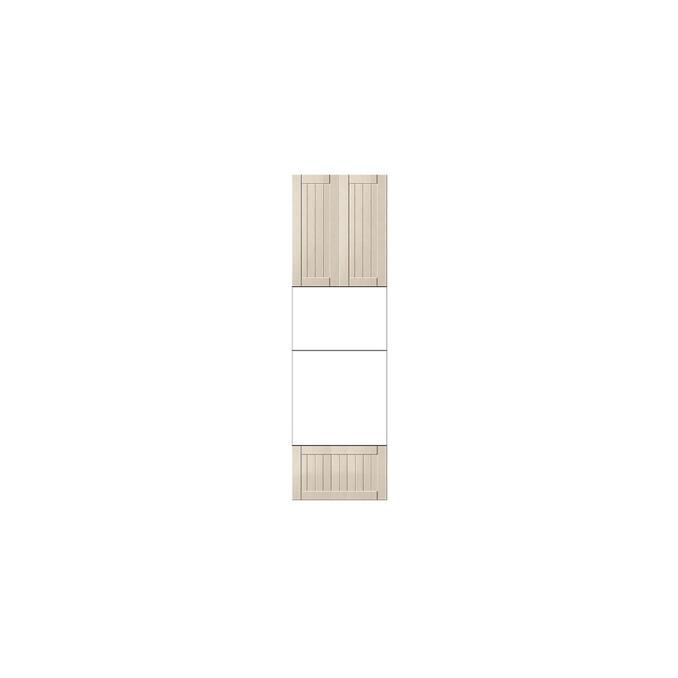 Шкаф «Тапио» 2D1S/60 белый/дуб снежный