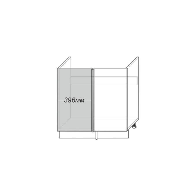 Шкаф «Тапио» угловой 1D/80 белый/дуб снежный