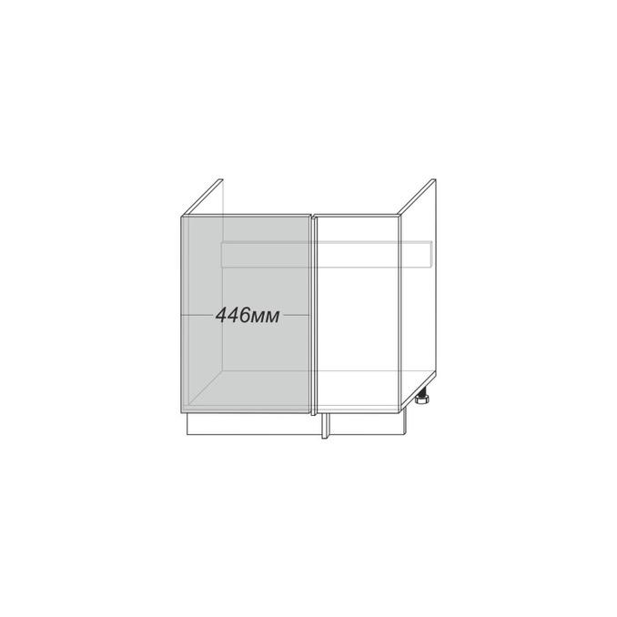 Шкаф угловой под мойку «Гранд» 1D/80 белый/дуб полярный