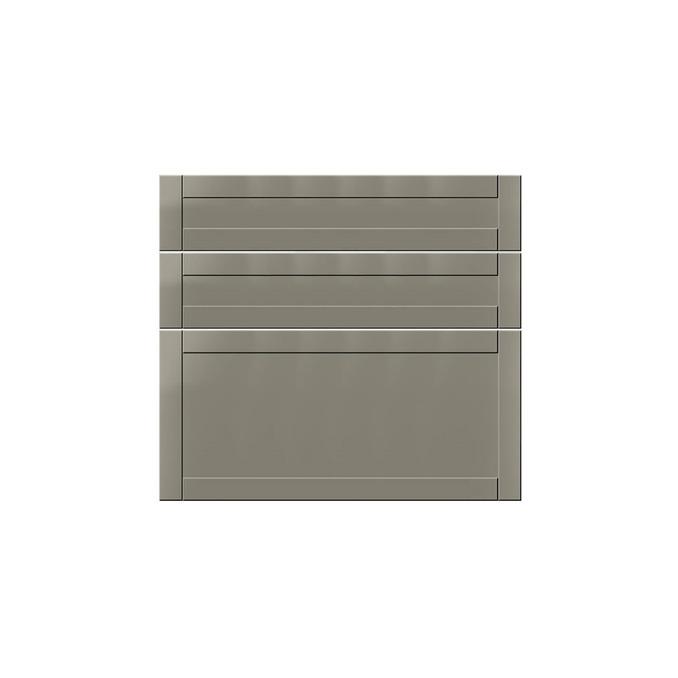 Шкаф тумба «Авеню» 3S/80-51 белый/светло-серый сатин