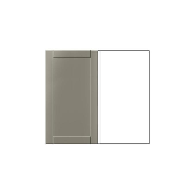 Шкаф под мойку «Авеню» угловой 1D/80-51 белый/светло-серый сатин