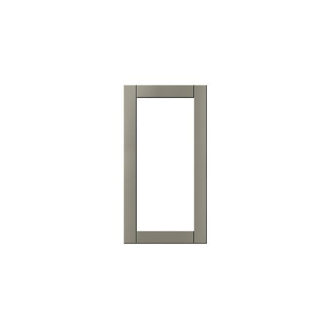 Шкаф витрина угловой «Авеню» 1VU/60 серый/светло-серый сатин
