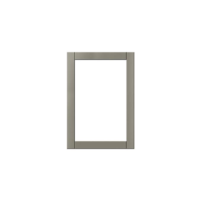 Шкаф витрина настенный «Авеню» 1V/50-29 серый/светло-серый сатин