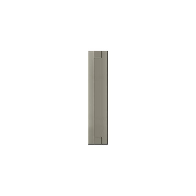 Шкаф напольный «Авеню» 1DK/15-51 белый/светло-серый сатин