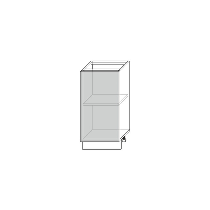 Шкаф-стол «Авеню» 1D/40-46 серый/светло-серый сатин