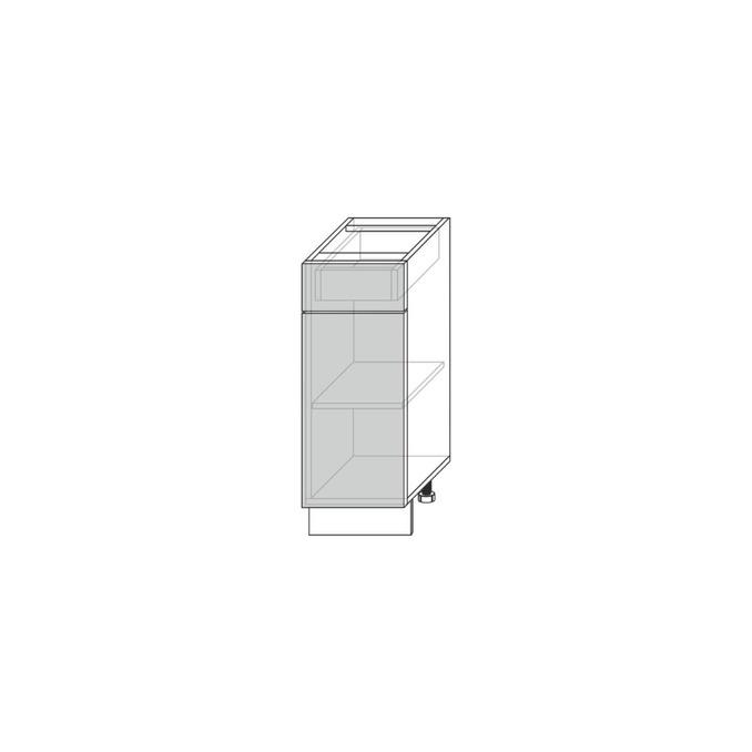 Шкаф-стол «Авеню» 1D1S/40-51 белый/светло-серый сатин