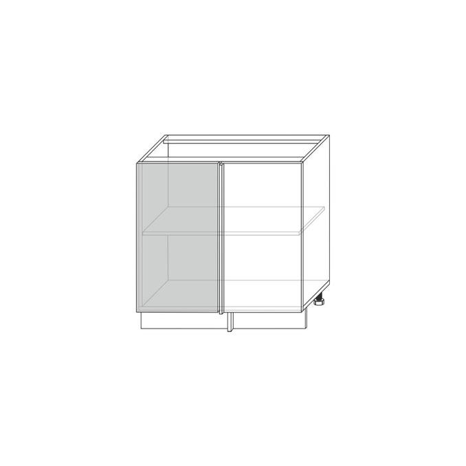 Шкаф-стол угловой «Авеню» 1D/80-1-51 белый/светло-серый сатин