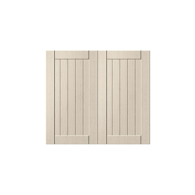 Шкаф «Тапио» под мойку 2D/60 серый/дуб снежный